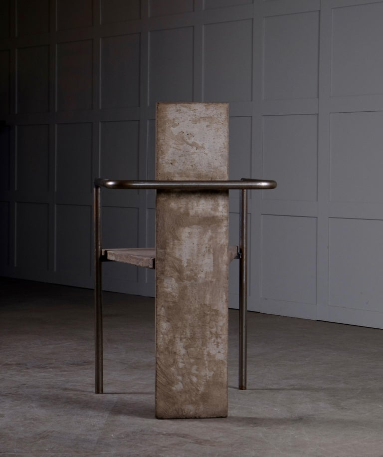 Concrete Chair Jonas Bohlin, Sweden, 1980s For Sale 3