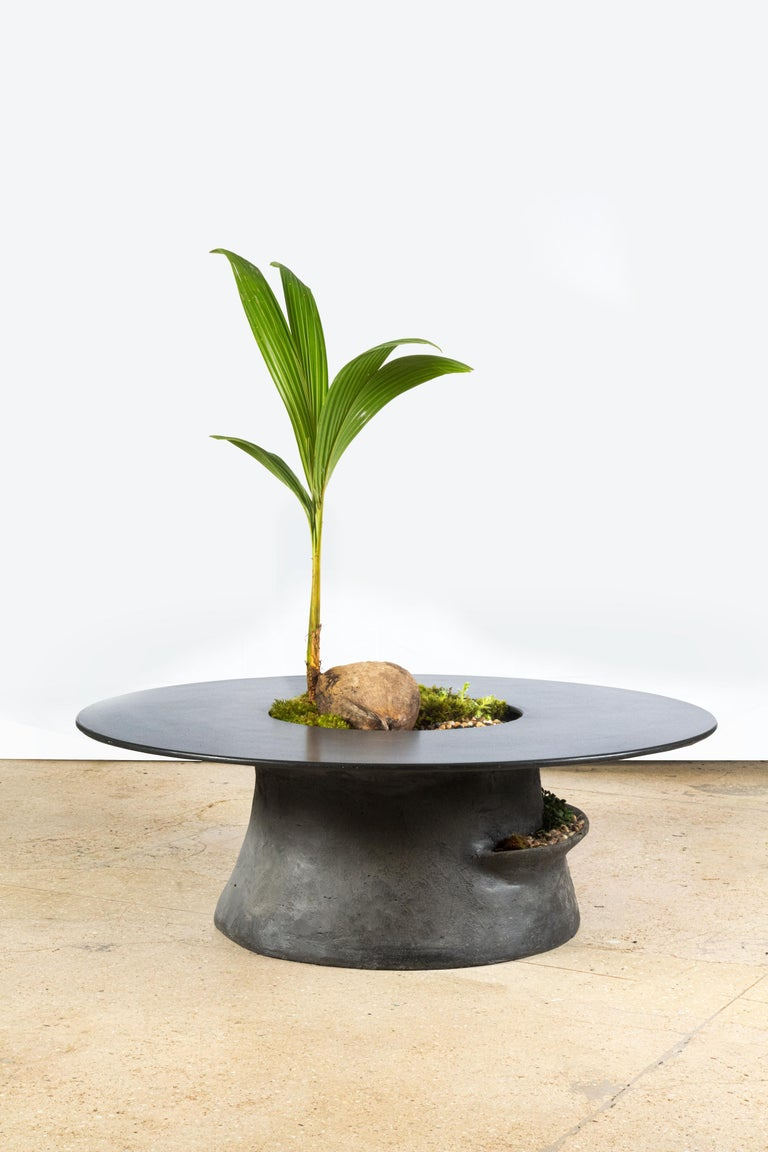 -The Caldera Collection-  Thisorganic and archaic table will enhance and add distinct style to any space.   Inspire great conversation by pairing it with our Drillium chairs and a centerpiece plant of your choice.    The Caldera table includes a