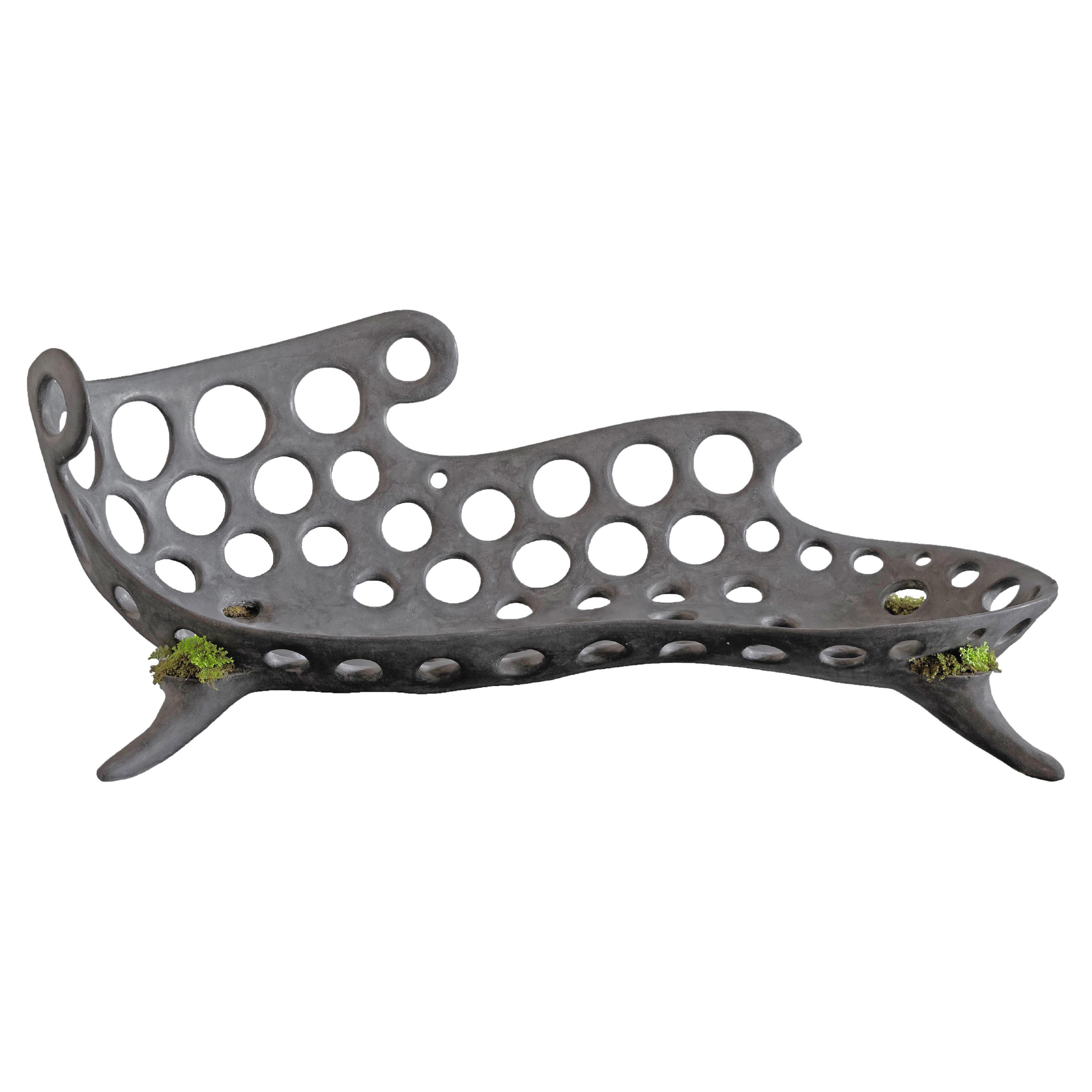 Concrete Drillium Chaise Lounge by OPIARY