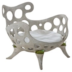 Concrete Drillium Club Chair by OPIARY