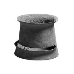 "Concrete Echelon Planter by OPIARY (D20"", H18"")"