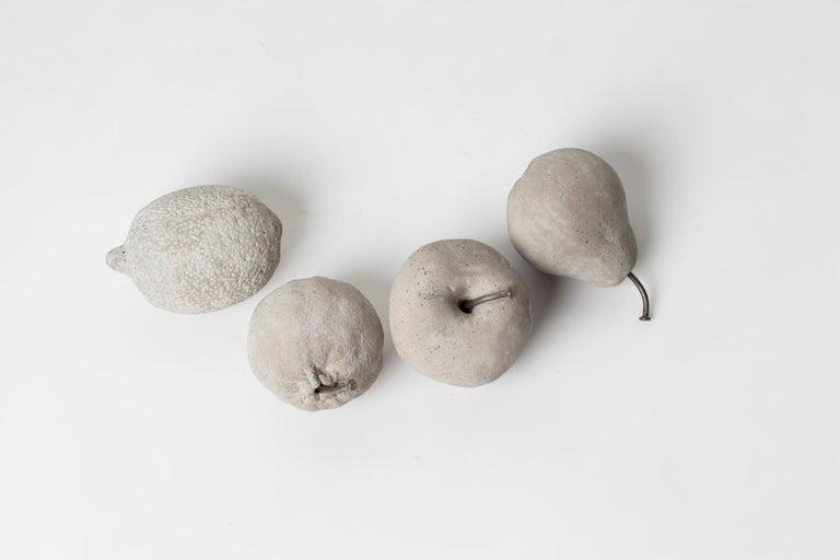 Brutalist Concrete Fruits (set), CONTEMPORARY SCULPTURES IN CONCRETE For Sale
