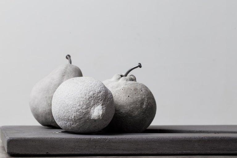 Concrete Fruits (set), CONTEMPORARY SCULPTURES IN CONCRETE For Sale 1
