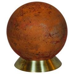 Concrete Garden Ball on Brass Base