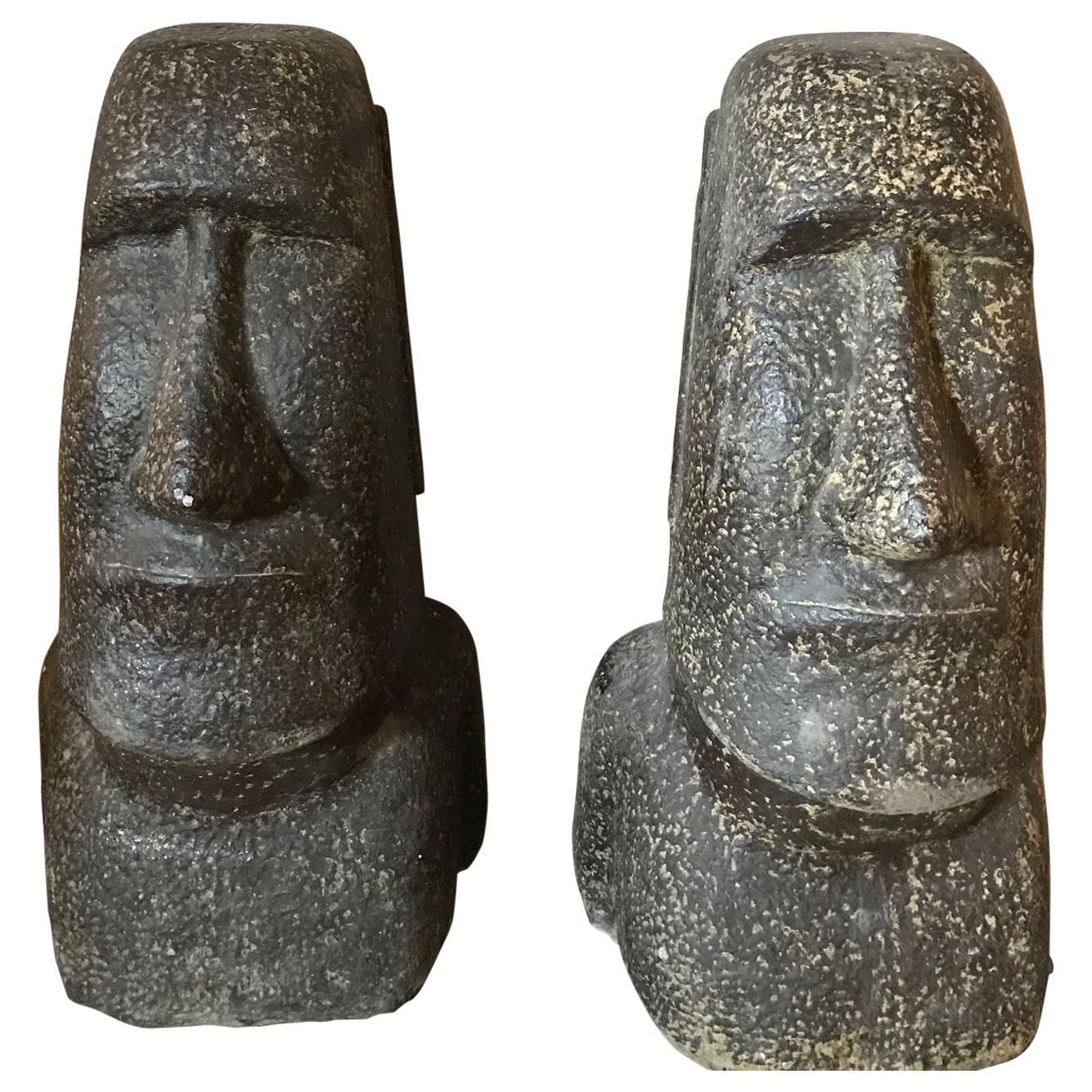 Concrete Garden Statues in the form of Easter Island Stone Statues