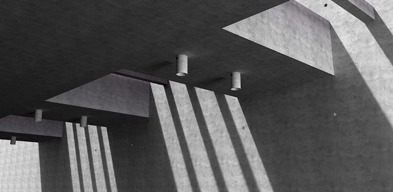 Contemporary Concrete Lighting 'LV' Ceiling Light For Sale