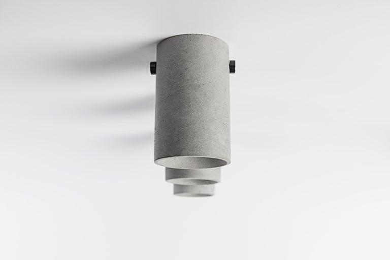 Industrial Concrete Lighting 'LV' Ceiling Light For Sale