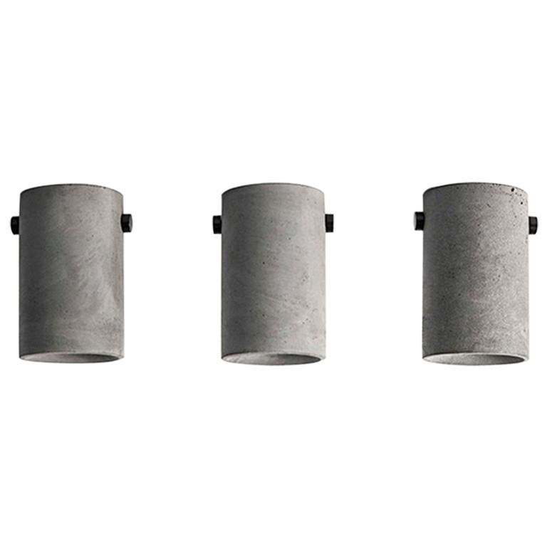 Concrete Lighting 'LV' Ceiling Light For Sale