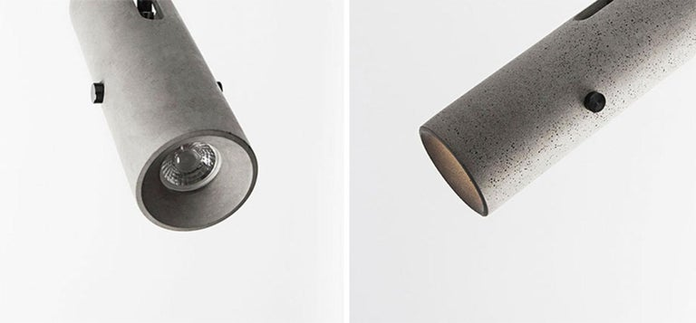'LV' concrete lightings designed by Cantonese studio Bentu Design  Wall lamp (works also as ceiling spotlight) LED GU10 7W 85-240V 80Ra 500LM 3000K (compatible with US electric system)    Bentu Design's furniture derives its uniqueness from the