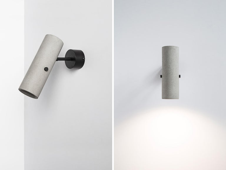 Contemporary Concrete Lighting 'LV' Sconce / Wall Light For Sale