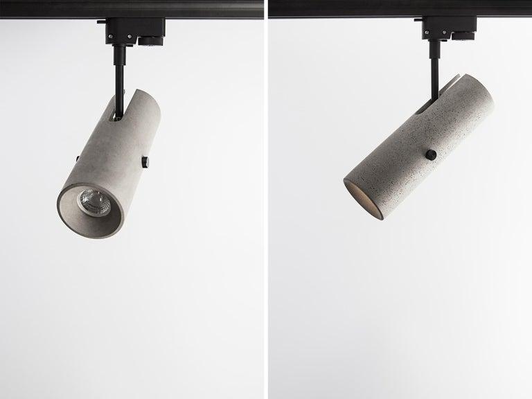 Contemporary Concrete Lighting 'LV' Spotlight For Sale