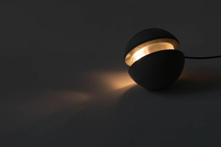 Industrial Concrete Pendant Lamp 'Moon M' by Bentu Design For Sale