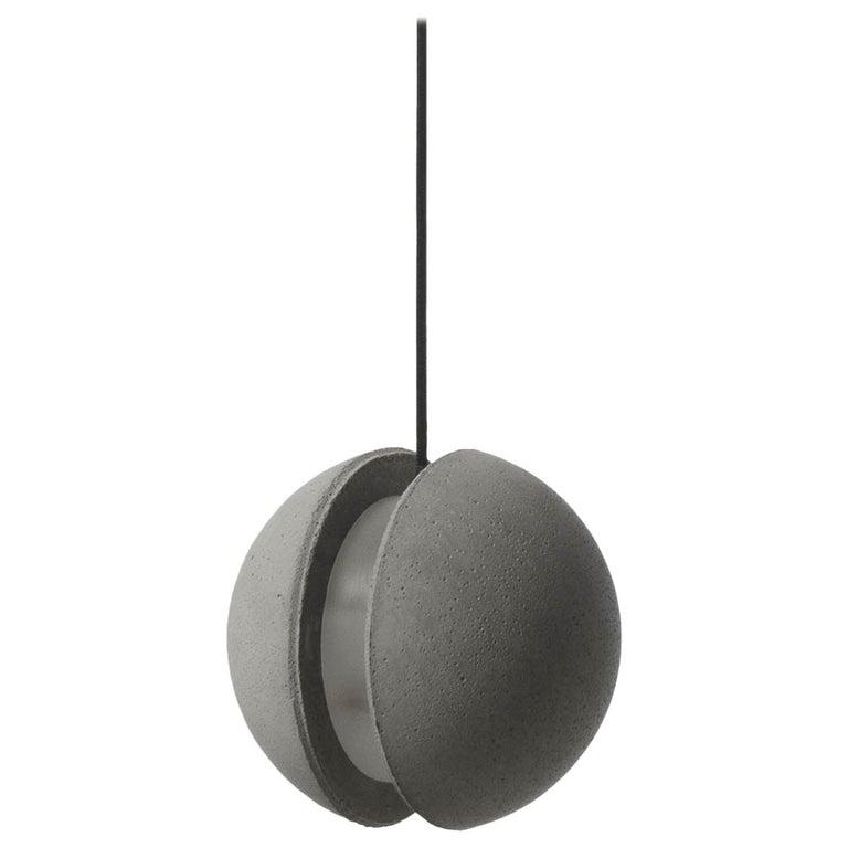 Concrete Pendant Lamp 'Moon M' by Bentu Design For Sale