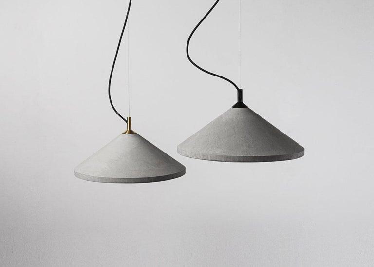 Industrial Concrete Pendant Lamp 'Ren 1' For Sale