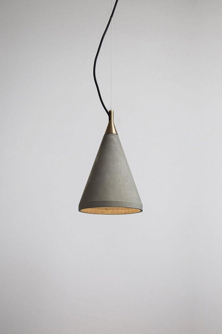 Chinese Concrete Pendant Lamp 'Ren 1' For Sale