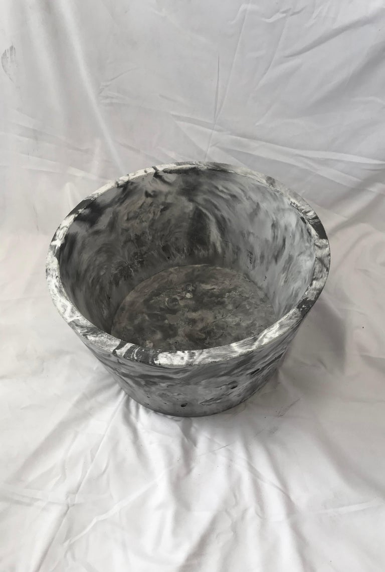 Modern Concrete Planter 1.0 in Marbled Scagliola for Indoor or Outdoor by Mtharu For Sale