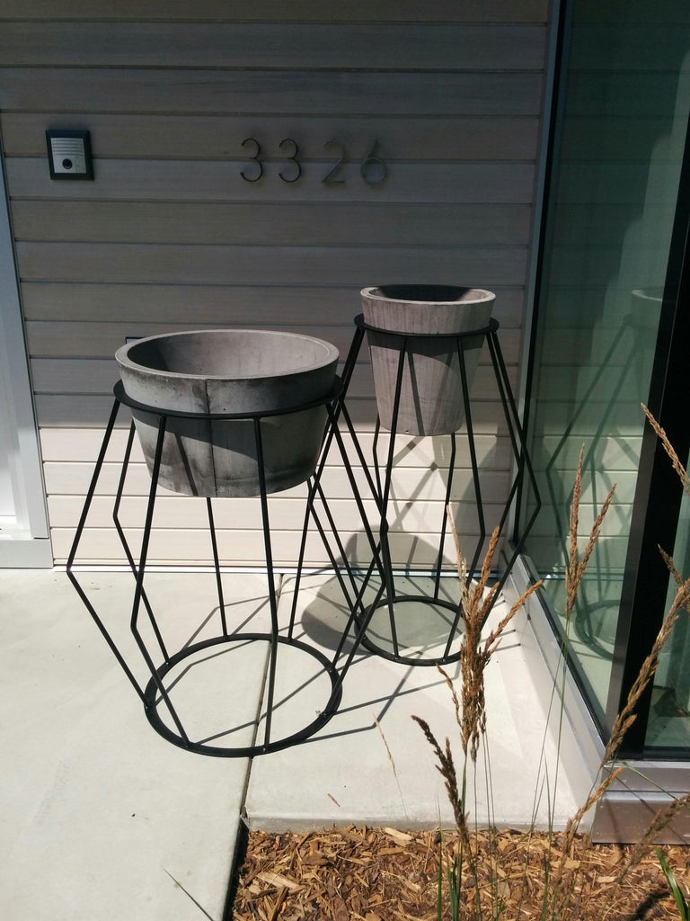 Contemporary Concrete Planter 1.0 in Marbled Scagliola for Indoor or Outdoor by Mtharu For Sale