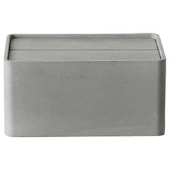 "Concrete Tissue Box, ""Hui,"" L, from Concrete Collection by Bentu"