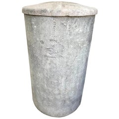 Concrete Trash Can in the Style of Willy Guhl