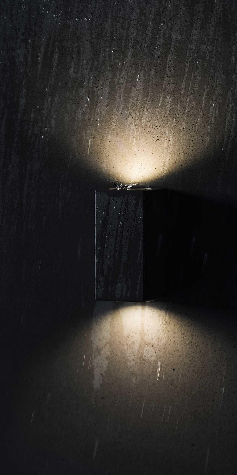 Chinese Concrete Wall Lamp or Outdoor Lighting 'D' '3 sizes available' For Sale