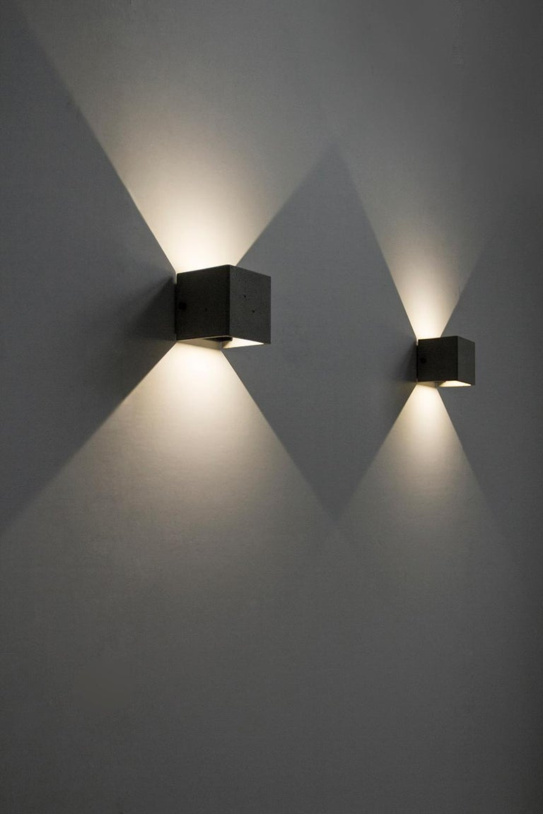 Industrial Concrete Wall Lamp / Sconce / Outdoor Lighting 'V' For Sale