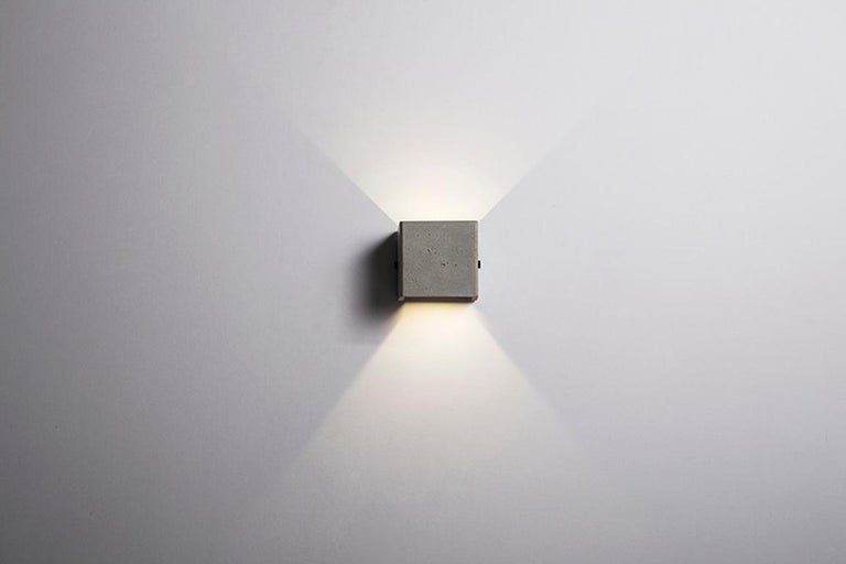 Contemporary Concrete Wall Lamp / Sconce / Outdoor Lighting 'V' For Sale