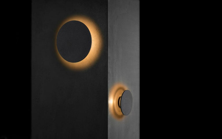 Chinese Concrete Wall Lamp / Sconce 'Pin' in Concrete 'Medium' Outdoor Lighting For Sale
