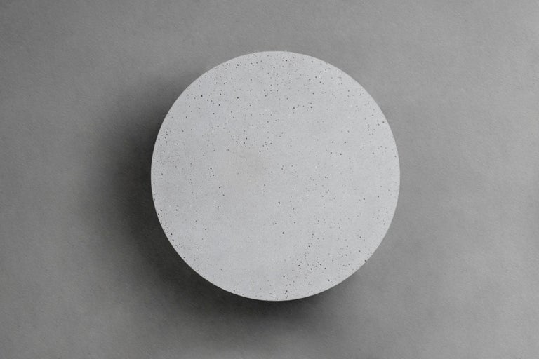 Concrete Wall Lamp / Sconce 'Pin' in Concrete 'Small' Outdoor Lighting For Sale 1