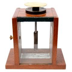 1900s Mahogany Condenser Electroscope Antique Physics Measuring Instrument