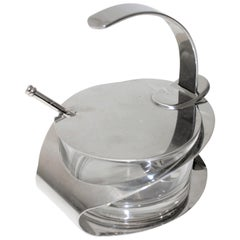 Condiment Holder in Stainless Steel by Carlo Giannini