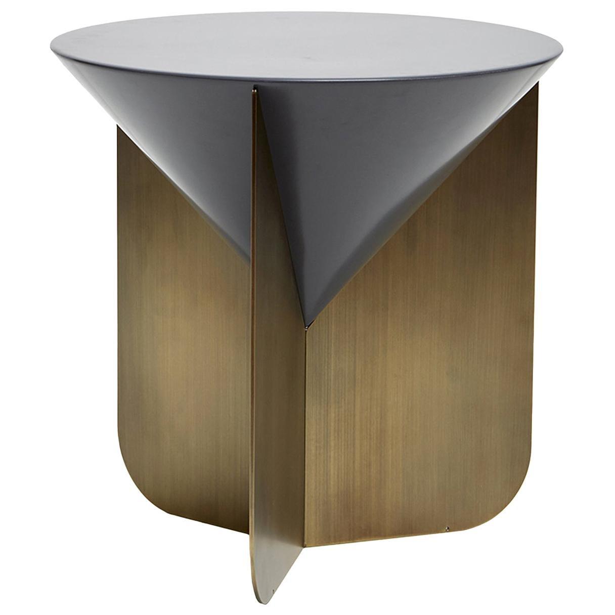 Cone Blue and Gray Side Table by Matteo Zorzenoni
