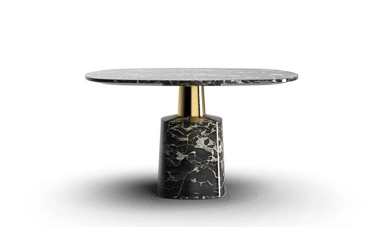 Modern Cone Marble Dining Table by Marmi Serafini For Sale