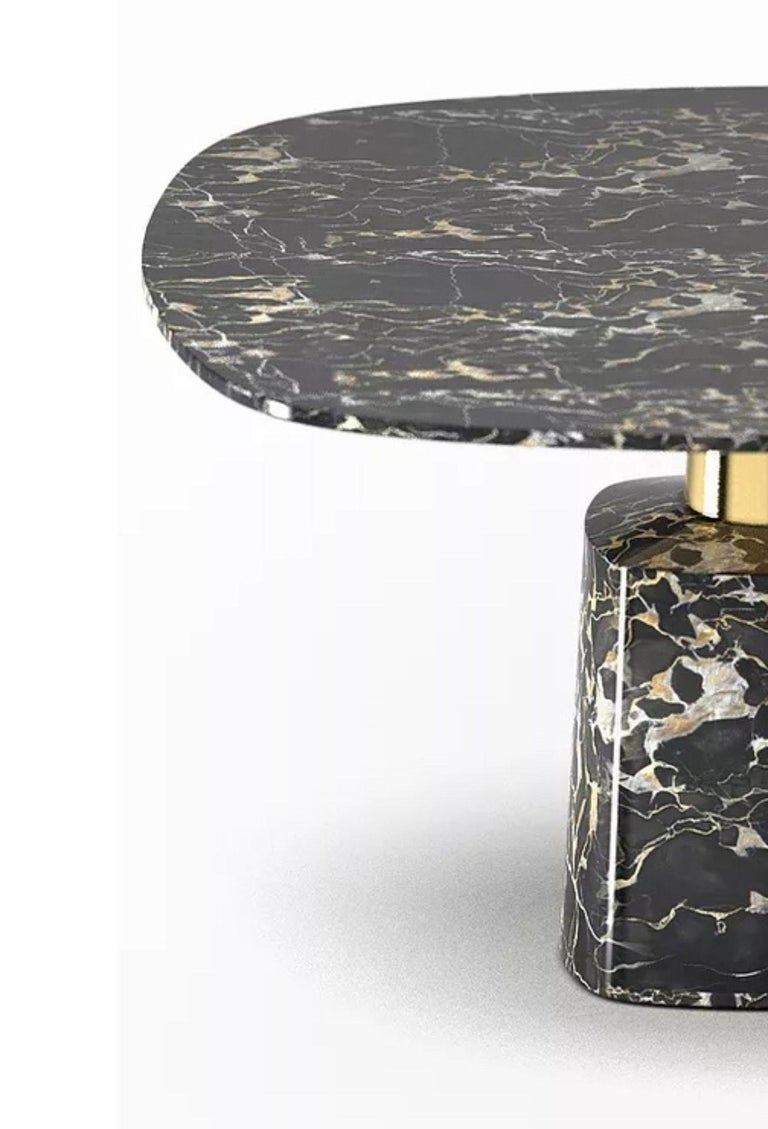 Cone Marble Dining Table by Marmi Serafini In New Condition For Sale In Geneve, CH