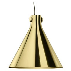 Cone Suspension Lamp in Polished Brass By Richard Hutten