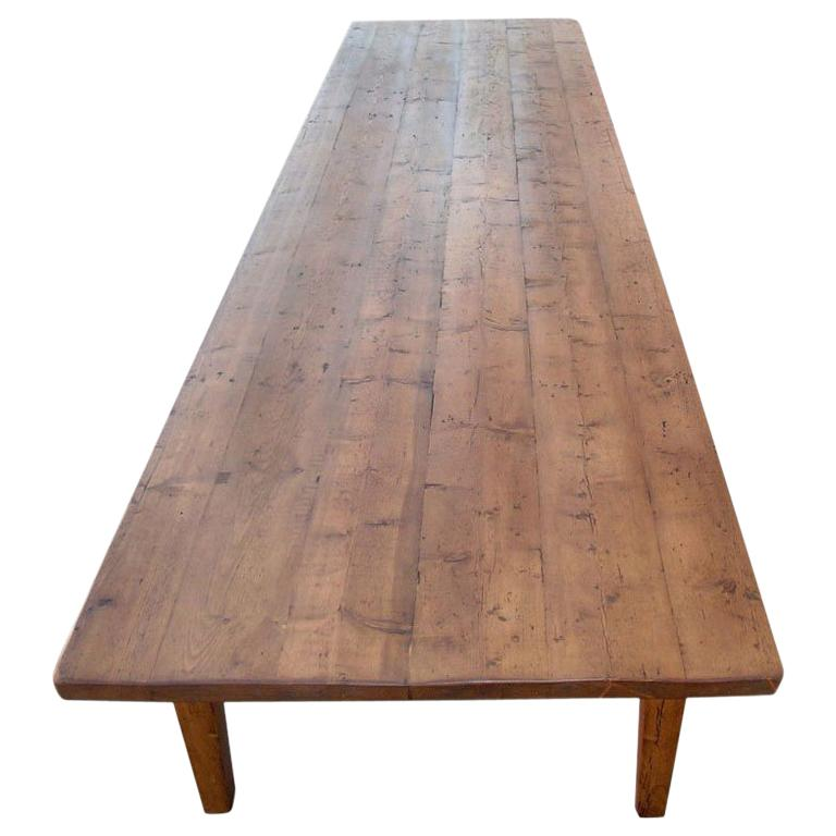 Conference Table in Reclaimed Pine, Custom Made by Petersen Antiques