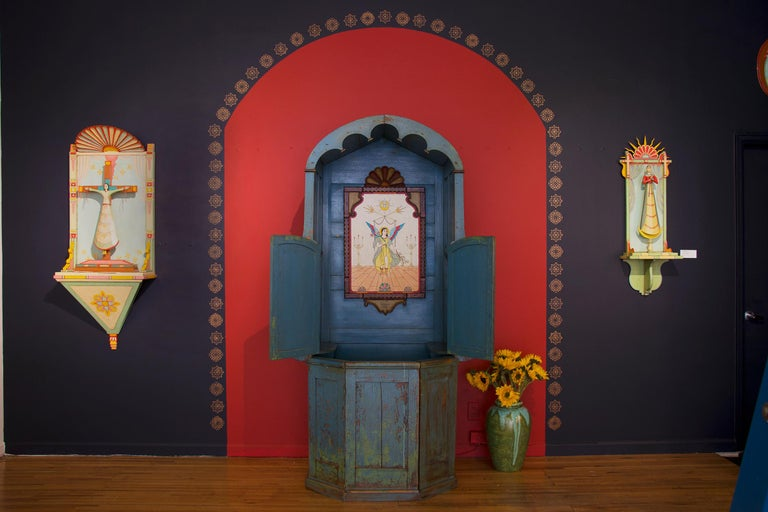 Confessional Booth, Early 20th Century, Mexican For Sale 3
