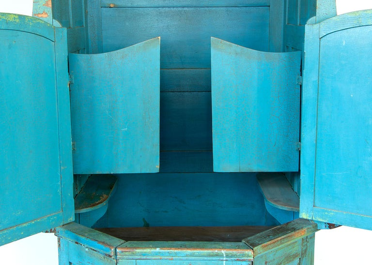Painted Confessional Booth, Early 20th Century, Mexican For Sale