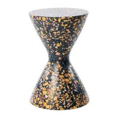 Confetti, Medium Contemporary Indoor/Outdoor Terrazzo Side Table by Laun