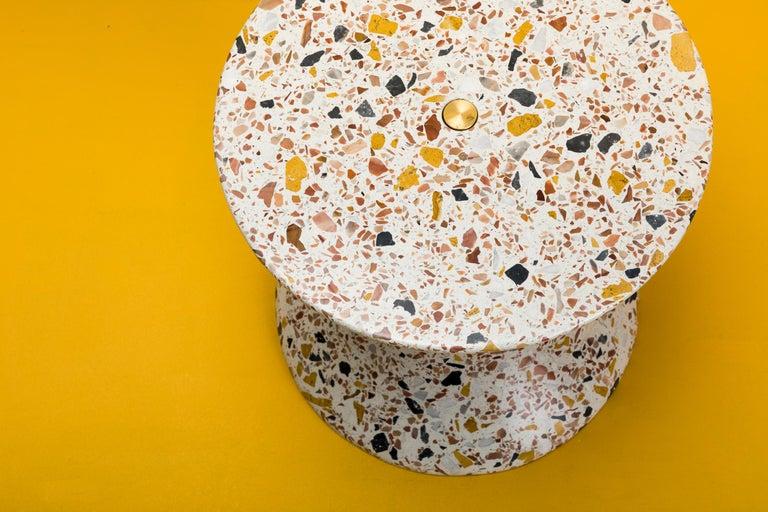 Confetti, Small Contemporary Indoor/Outdoor Terrazzo Side Table by Laun For Sale 3