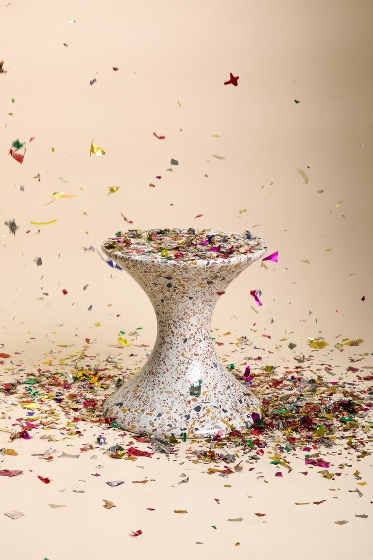 Confetti, Small Contemporary Indoor/Outdoor Terrazzo Side Table by Laun For Sale 4