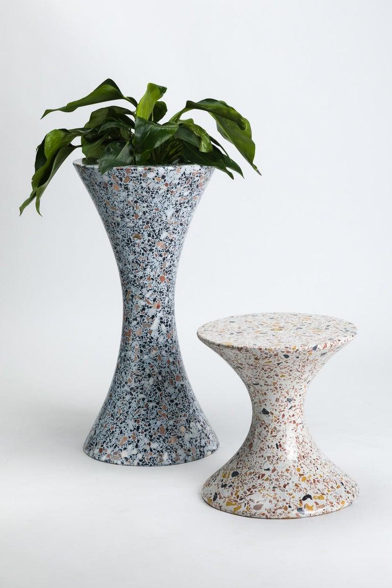 Confetti, Small Contemporary Indoor/Outdoor Terrazzo Side Table by Laun For Sale 5
