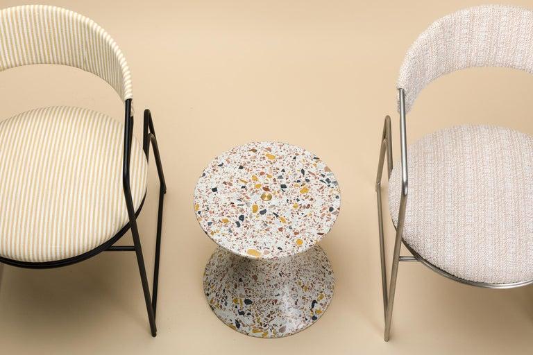 Confetti, Small Contemporary Indoor/Outdoor Terrazzo Side Table by Laun For Sale 6