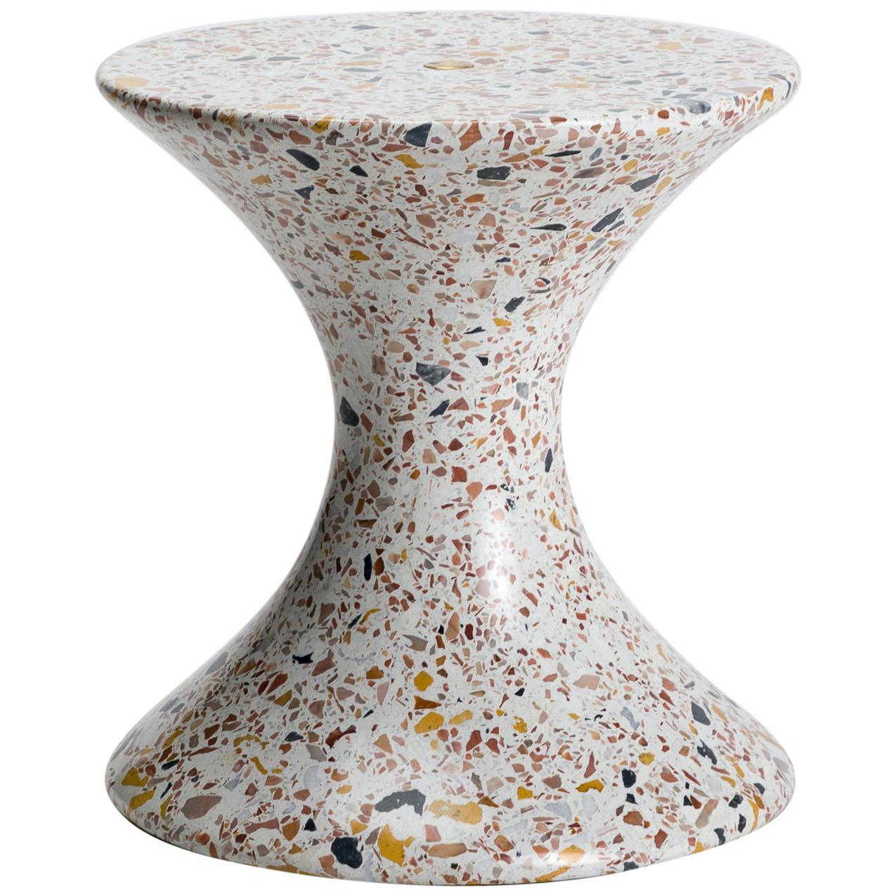 Confetti, Small Contemporary Indoor/Outdoor Terrazzo Side Table by Laun