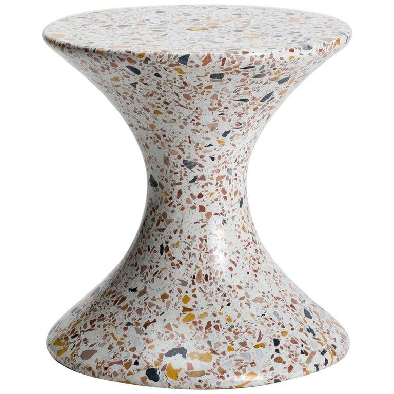 Confetti, Small Contemporary Indoor/Outdoor Terrazzo Side Table by Laun For Sale