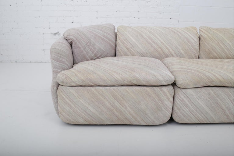 "'Confidential"" Sectional Sofa by Alberto Rosselli for Saporiti, Missoni Fabric For Sale 4"