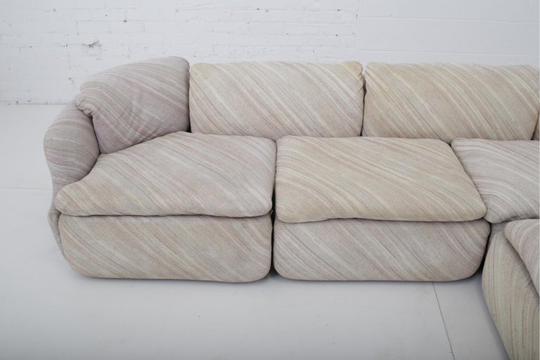 "'Confidential"" Sectional Sofa by Alberto Rosselli for Saporiti, Missoni Fabric For Sale 5"