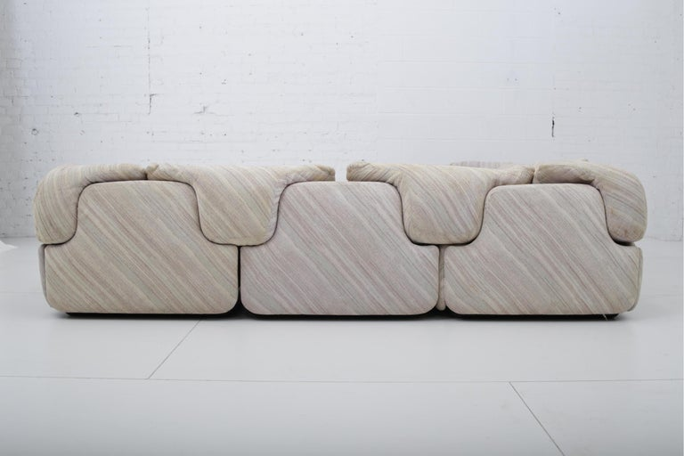 "'Confidential"" Sectional Sofa by Alberto Rosselli for Saporiti, Missoni Fabric For Sale 6"