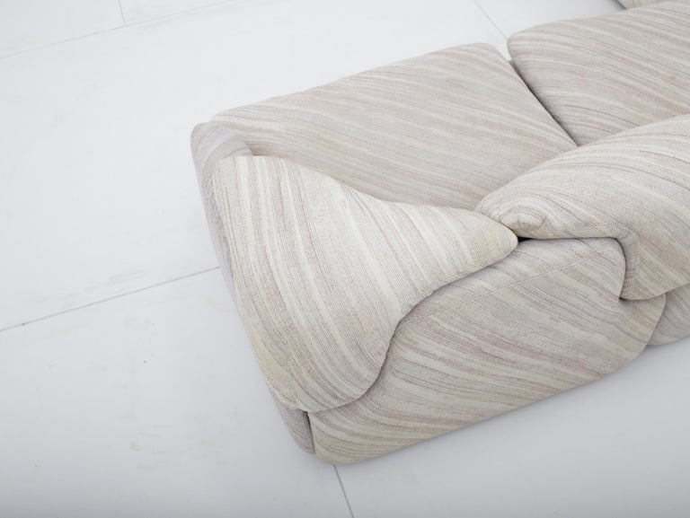 "'Confidential"" Sectional Sofa by Alberto Rosselli for Saporiti, Missoni Fabric For Sale 8"