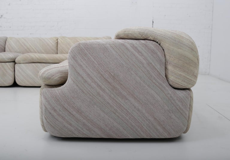 "'Confidential"" Sectional Sofa by Alberto Rosselli for Saporiti, Missoni Fabric For Sale 9"
