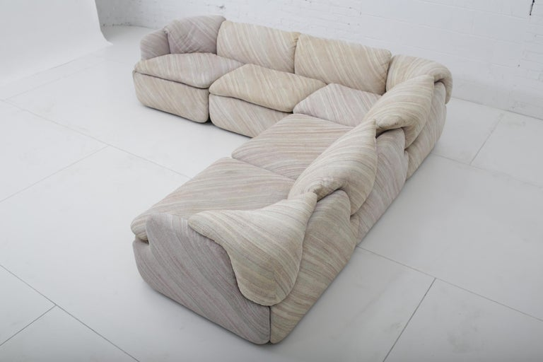 "'Confidential"" Sectional Sofa by Alberto Rosselli for Saporiti, Missoni Fabric For Sale 10"